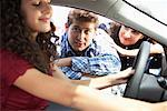 Teenager and Family Shopping For New Car    Stock Photo - Premium Royalty-Free, Artist: Masterfile, Code: 600-01645934