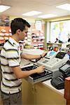 Cashier in Store    Stock Photo - Premium Rights-Managed, Artist: Ron Fehling, Code: 700-01646099