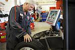 Mechanic Working on Car    Stock Photo - Premium Rights-Managed, Artist: Ron Fehling, Code: 700-01646211