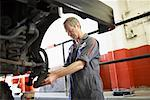 Mechanic Working on Car    Stock Photo - Premium Rights-Managed, Artist: Ron Fehling, Code: 700-01646213