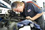 Mechanic Working on Car    Stock Photo - Premium Rights-Managed, Artist: Ron Fehling, Code: 700-01646214