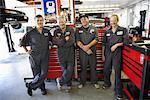 Mechanics in Service Station    Stock Photo - Premium Rights-Managed, Artist: Ron Fehling, Code: 700-01646220