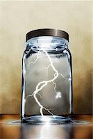 Lightning in a Jar Stock Photo - Premium Rights-Managednull, Code: 700-01646237