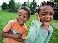 Siblings Making Faces    Stock Photo - Premium Royalty-Freenull, Code: 600-01646326