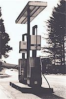 rural gas station - gas pumps Stock Photo - Premium Royalty-Freenull, Code: 653-01651183