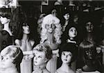 Mannequins with wigs in a wig shop Stock Photo - Premium Royalty-Free, Artist: AWL Images, Code: 653-01651508