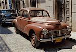Old cars parked in street, Havana Cuba