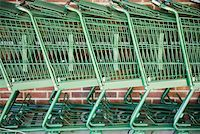 empty shopping cart - Shopping trolleys Stock Photo - Premium Royalty-Freenull, Code: 653-01661919