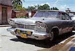 Vintage car parked on a street, Havana, Cuba