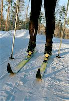Person cross-country skiing Stock Photo - Premium Royalty-Freenull, Code: 653-01664209