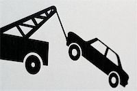 Information sign showing car being towed Stock Photo - Premium Royalty-Freenull, Code: 653-01664354