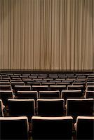 Closed curtain in an empty theater Stock Photo - Premium Royalty-Freenull, Code: 653-01665888