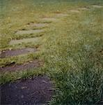 A garden path with stepping stones Stock Photo - Premium Royalty-Free, Artist: Jerzyworks, Code: 653-01666410