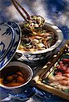 Chinese fondue Stock Photo - Premium Royalty-Free, Artist: Blend Images, Code: 652-01666914