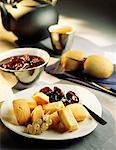 Financiers and plum compote Stock Photo - Premium Royalty-Free, Artist: Photocuisine, Code: 652-01667192