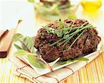 Herb and onion minced meat loaf Stock Photo - Premium Royalty-Freenull, Code: 652-01669412