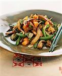 Pan-fried vegetables Stock Photo - Premium Royalty-Freenull, Code: 652-01669613