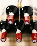 Necks of bottles of red wine Stock Photo - Premium Royalty-Free, Artist: Photocuisine, Code: 652-01669707