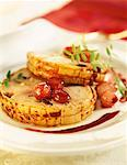 Roast pork with confit onions Stock Photo - Premium Royalty-Freenull, Code: 652-01669923