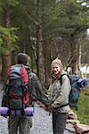 Couple Backpacking    Stock Photo - Premium Royalty-Free, Artist: Masterfile, Code: 600-01693951