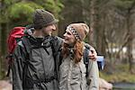Couple Backpacking    Stock Photo - Premium Royalty-Free, Artist: Masterfile, Code: 600-01693954