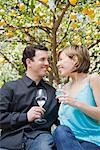 Couple Drinking Sparkling Water    Stock Photo - Premium Royalty-Free, Artist: Hiep Vu, Code: 600-01694119