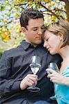 Couple Drinking Sparkling Water    Stock Photo - Premium Royalty-Free, Artist: Hiep Vu, Code: 600-01694120