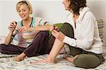 Friends Painting Nails    Stock Photo - Premium Rights-Managed, Artist: Klick, Code: 700-01694599