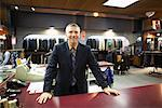 Sales Associate in Men's Clothing Store    Stock Photo - Premium Rights-Managed, Artist: Ron Fehling, Code: 700-01694619