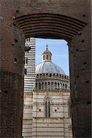 Duomo di Siena, Siena, Italy    Stock Photo - Premium Royalty-Freenull, Code: 600-01694779