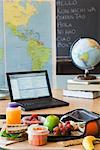 Lunch on Desk in Classroom    Stock Photo - Premium Royalty-Free, Artist: Strauss/Curtis, Code: 600-01694854