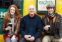 Couple and Man by Pub, Ireland Stock Photo - Premium Rights-Managednull, Code: 700-01694911