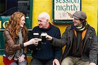 Couple and Man by Pub, Ireland    Stock Photo - Premium Rights-Managednull, Code: 700-01694912