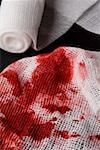 Blood stains on a bandage Stock Photo - Premium Royalty-Free, Artist: iRepublic, Code: 653-01697731