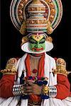 Close-up of a Kathakali dance performer Stock Photo - Premium Royalty-Free, Artist: Westend61, Code: 630-01709952