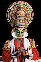 Close-up of a Kathakali dance performer Stock Photo - Premium Royalty-Freenull, Code: 630-01709958