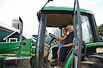 Girl in Tractor with Grandfather    Stock Photo - Premium Royalty-Free, Artist: Masterfile, Code: 600-01716025