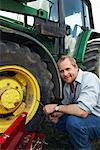 Man Working on Tractor    Stock Photo - Premium Royalty-Free, Artist: Masterfile, Code: 600-01716030