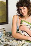 Portrait of Woman in Bed    Stock Photo - Premium Rights-Managed, Artist: Klick, Code: 700-01716200