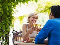 Couple at Cafe    Stock Photo - Premium Royalty-Freenull, Code: 600-01716399