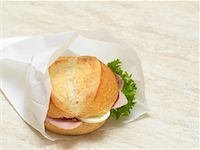 sandwich wrapper - Sandwich in Paper Bag    Stock Photo - Premium Rights-Managednull, Code: 700-01716555
