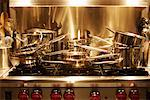 Pots and Pans Stacked on Stovetop    Stock Photo - Premium Rights-Managed, Artist: Ron Fehling, Code: 700-01716838