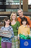 preteen family - Smiling family with recyclables Stock Photo - Premium Royalty-Freenull, Code: 621-01728285
