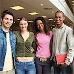 Students in library, portrait Stock Photo - Premium Royalty-Freenull, Code: 618-01738117