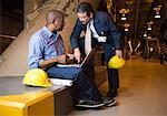 Coworkers talking in waste treatment plant Stock Photo - Premium Royalty-Freenull, Code: 604-01742481