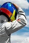 Rear view of a racecar driver Stock Photo - Premium Royalty-Free, Artist: Aflo Sport, Code: 625-01744643