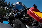 Close-up of a person go-carting Stock Photo - Premium Royalty-Free, Artist: Aflo Sport, Code: 625-01744820