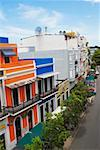 Buildings along a road, Old San Juan, San Juan, Puerto Rico