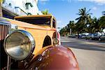 Close-up of a car's headlight, South Beach, Miami Beach, Florida USA Stock Photo - Premium Royalty-Free, Artist: Kevin Dodge, Code: 625-01749557