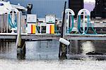 Gas station pumps at a harbor Stock Photo - Premium Royalty-Free, Artist: SuperStock               , Code: 625-01749564